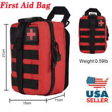 Tactical First Aid Kit Survival Molle Rip-Away EMT Pouch Bag IFAK Medical Red