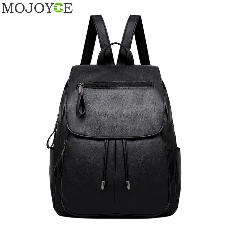 Preppy Style Women Backpack Soft PU Leather Backpack Fashion School Bags for Teenager Girls Shoulder Bags Travel Mini Daypacks