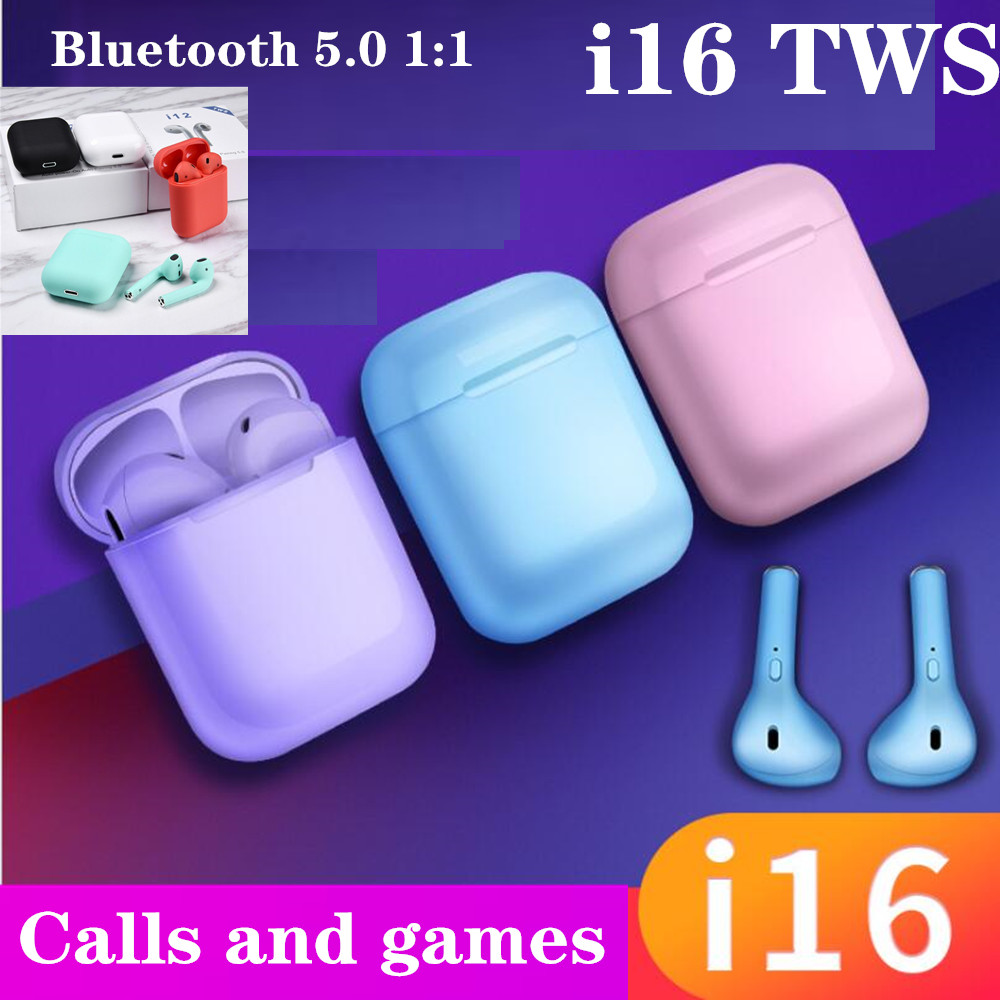 i16 <font><b>TWS</b></font> Wireless <font><b>Earphone</b></font> Bluetooth 5.0 1:1 Ai Mini Wireless Bluetooth 3D bass Ear Buds no i10 i12 i13 i14 i15 <font><b>i18</b></font> <font><b>tws</b></font> image