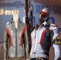 CGCOS Expreso! Anime Versión 76 Soldado Soldado 76 Cosplay Oro Uso Diario Superhero Outfit Uniforme Capa de La Chaqueta