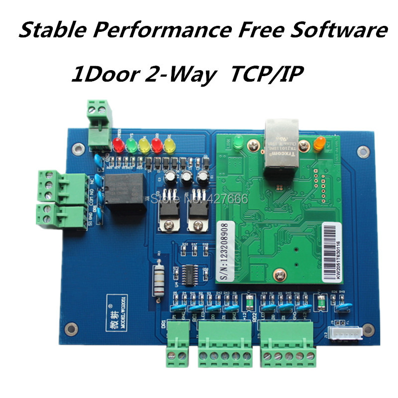WebServer TCP/IP single Door Wiegand RFID Access Control Board 1 door 2 Readers Wiegand TCP/IP Network Access Control Board цена