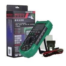 Mastech multímetro Digital de rango automático, protección completa, amperímetro de CA/CC, voltímetro de Ohm, prueba de diodo de frecuencia eléctrica