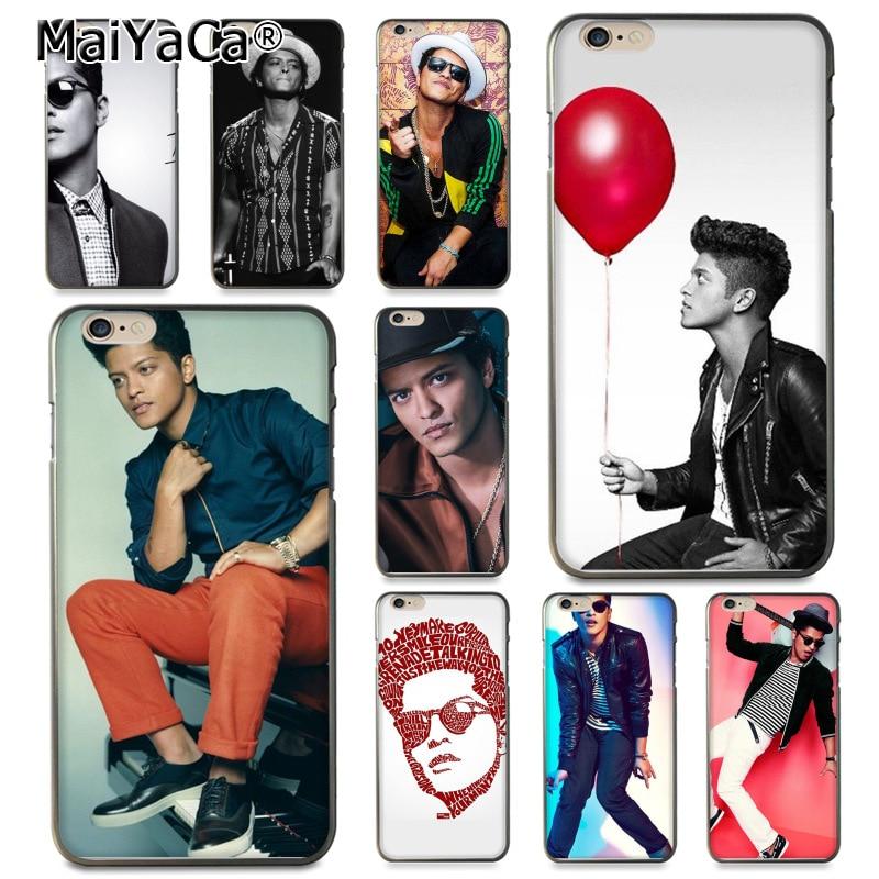MaiYaCa популярные звезды Bruno Mars Coque Shell Телефон чехол для Apple iPhone 8 7 6 6 S Plus X 5 5S SE 5C крышка ...