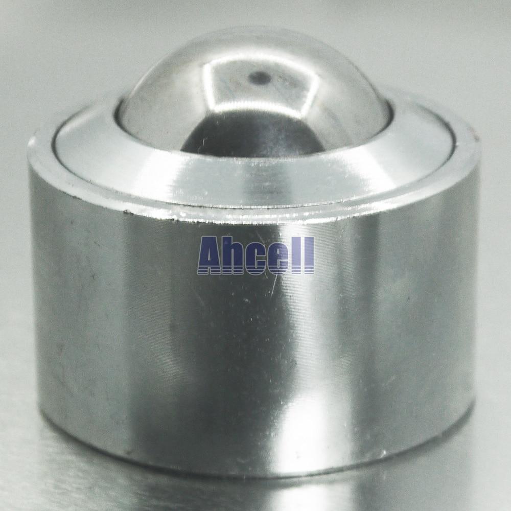 все цены на 2pcs KSM-30 Machined Steel Ball Bearing wheel caster press fit round Ball Transfer Unit Conveyor Table Platform Ball Roller онлайн