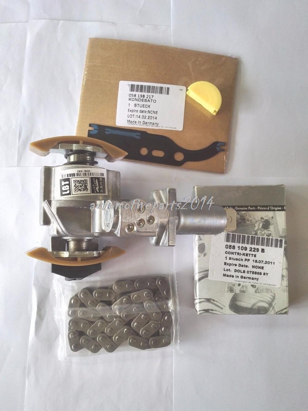 Nouveau 1 Kit de tendeur de chaîne de distribution d'arbre à cames véritable pour VW Jetta Golf Passat Beetle 1.8 1.8T 058109088K 058109088L 058109088