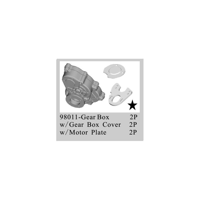 ФОТО RC CAR SPARE PARTS GEAR BOX FOR HSP 1/8 4X4 ROCK CRAWLER (part no. 98011)