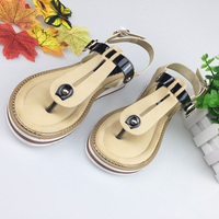 HEYIYI Women Sandals Platform Wedges Toe Knob Soft Sole Leather Flat EVA Comfort Fashion Gladiator Large