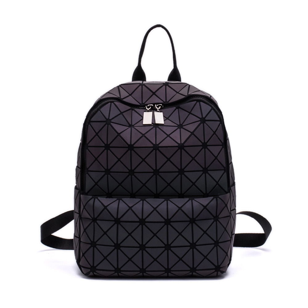 Newest Hologram geometric diamond checkered backpack luminous travel men women backpack pvc laser holographic sac a dos aelicy mochila backpack women silver hologram laser backpack school bag leather holographic backpack multicolor sac a dos