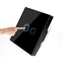 EU/UK 2 gang 1 way crystal glass panel touch sensor wall switch eu, capactive led light switch , smart touch switch smart home