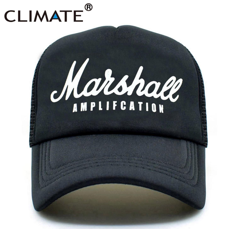 где купить CLIMATE Men Women New Trucker Caps Hot Marshall Cool Summer Caps Music Fans Youth Nice Baseball Mesh Net Trucker Cap Hat for Men по лучшей цене