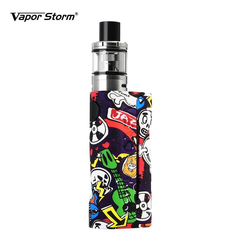 Vapor Storm Eco Electronic Cigarette Kit Max 90w Tank 2.0ml/lion Rda Graffiti Bypass Box Mod Vape 510 Support Rda Rdta Vaporizer