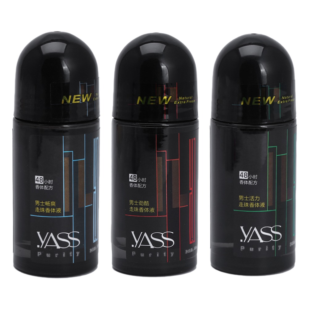 YASS 50 Ml Men's Walk Bead Body Antiperspirant Cleaner Deodorant Armpit  Remove Fresh
