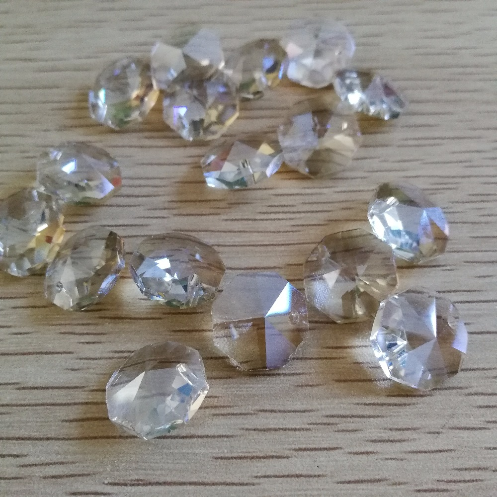 Hot ! 100pcs/lot Cognac One Hole 14mm Crystal Chandelier Beads Chandelier Glass Prism Pendant For Lighting
