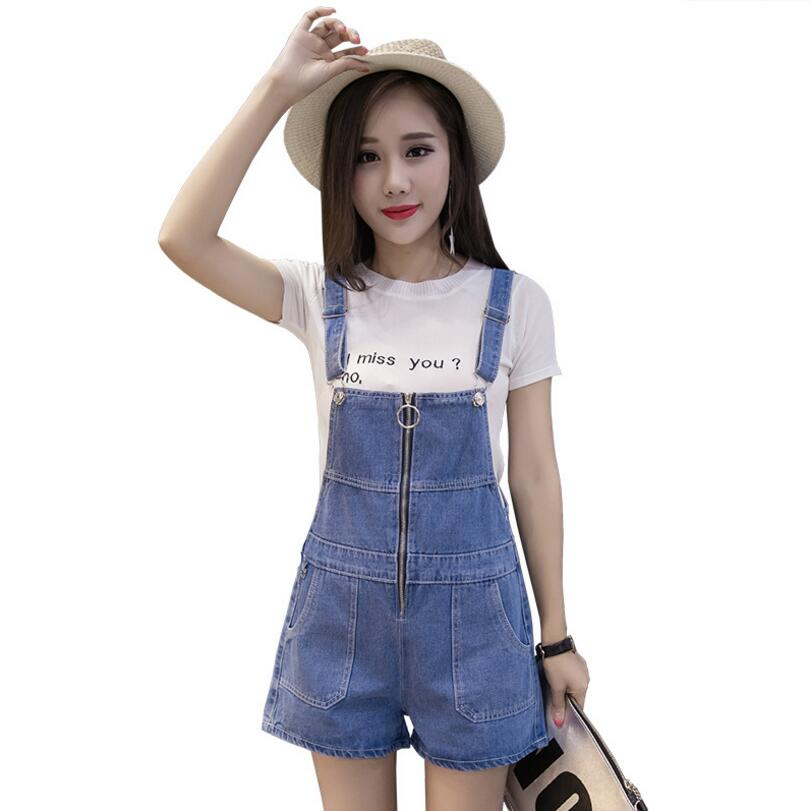 9befcb71a0 2018 Summer Short Denim Jumpsuit Women Casual Jeans Romper Playsuits  Fashion Bandage Dungarees Overalls Shorts For Ladies p361