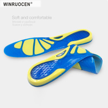Silicon Gel Insoles Foot Care for Plantar Fasciitis Heel Spur Running Sport Insoles Shock Absorption Pads arch orthopedic insole цена и фото