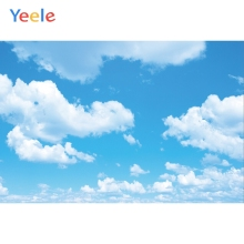 Yeele Blue Sky White Cloud Backdrops Holiday Portrait Photography Background Customized Photographic Backdrop For Photo Studio