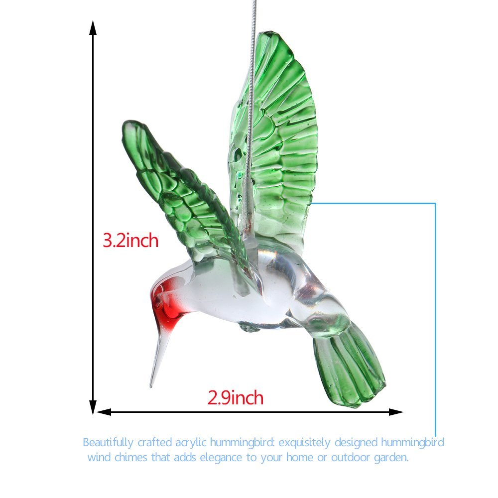 Zpaa Solar Color Changing Wind Chime Light Led Outdoor Hummingbird Chimes Home Garden Decor In Lamps From Lights