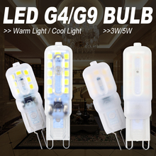 8PCS LED Corn Light G9 Lamp 220V Ampoule G4 Dimmable Bulb 3W 5W Chandelier Candle Replace Halogen 2835