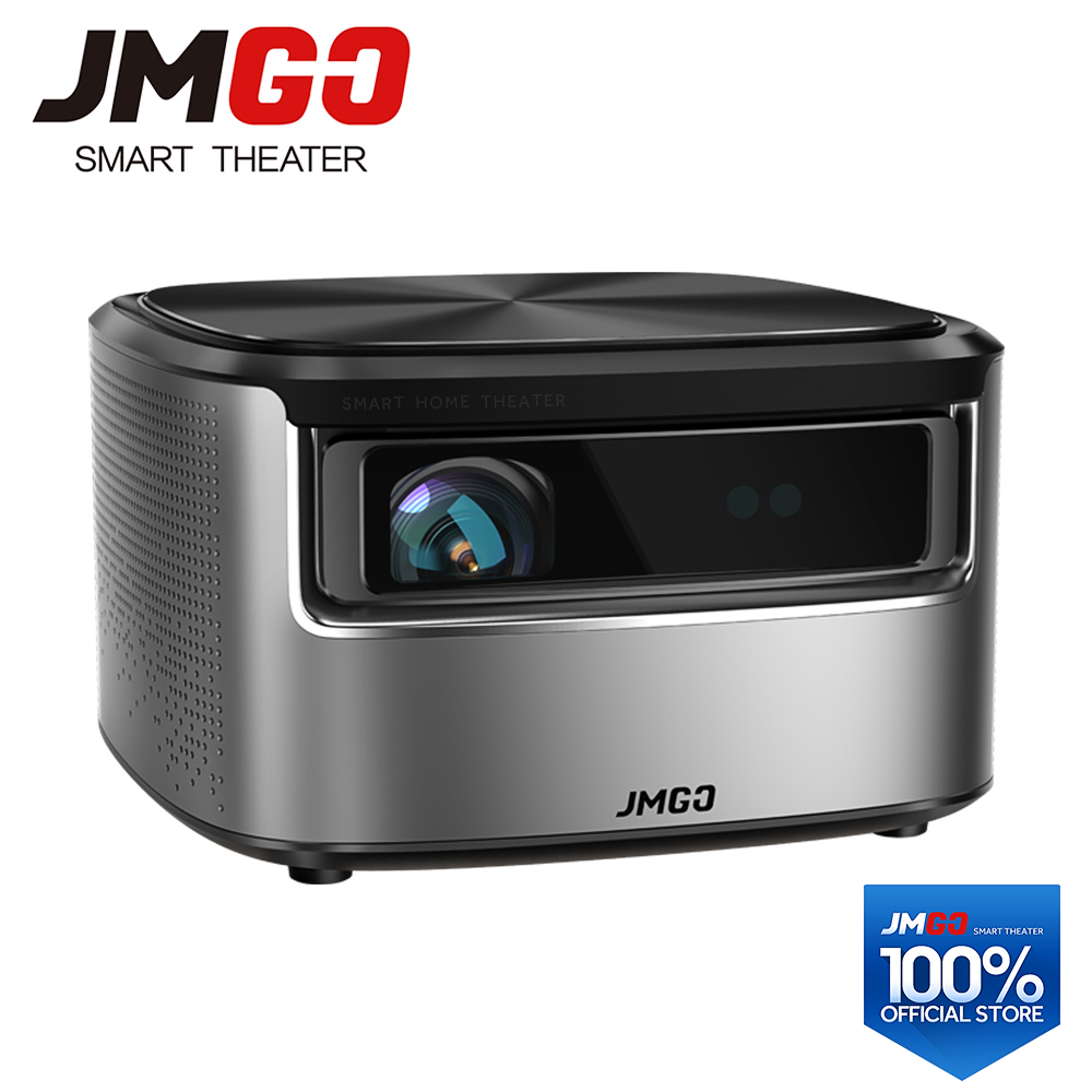 JMGO N7 Proiettore Full HD, 1300 ANSI Lumen, 1920*1080 P, 2G + 16G, Smart Beamer, WIFI, Bluetooth, HDMI, USB, supporto 4 K TV LED