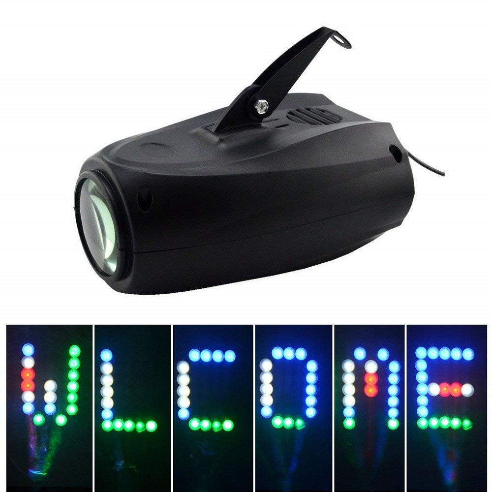 Music Control Led Stage Effect Lighting Sound Active 64 LEDs RGB DJ Disco Light Laser Lamp Party Projector Bar Wedding Lighting