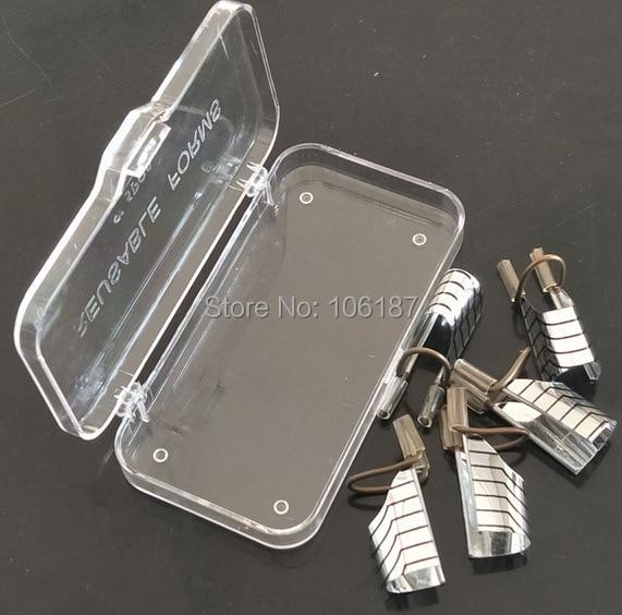 5PCS återanvändbara nagelformar UV-gel akryl franska tips Art - Nagel konst