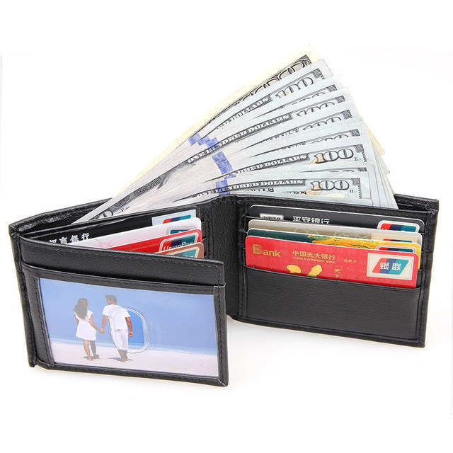 Wallet Men Leather Coin Purse For Business Card Holder Drivers license package Car Cover Black 2016 New Hot