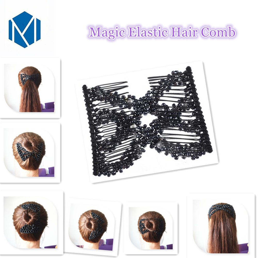 Women Magic Stretch Double Variety Hair Comb Clip Hairpin Accessories Durable UK