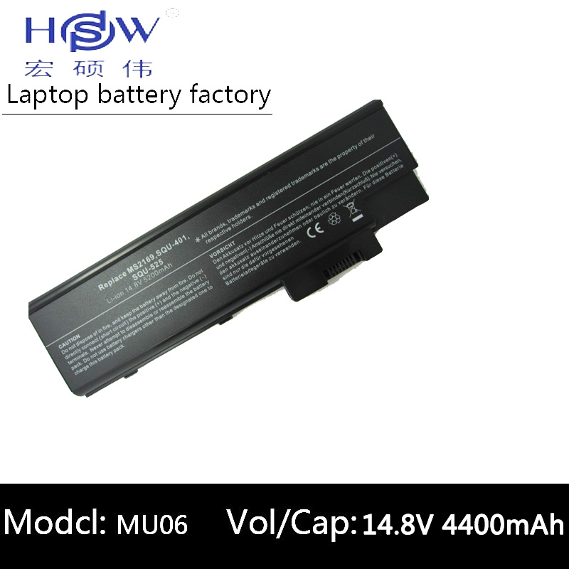HSW 5200mAh Battery For ACER Aspire 3660 5600 5620 5670 7000 7100 7110 9300 4UR18650F-2-QC218 BT.00803.014 BTP-BCA1 LC.BTP01.013