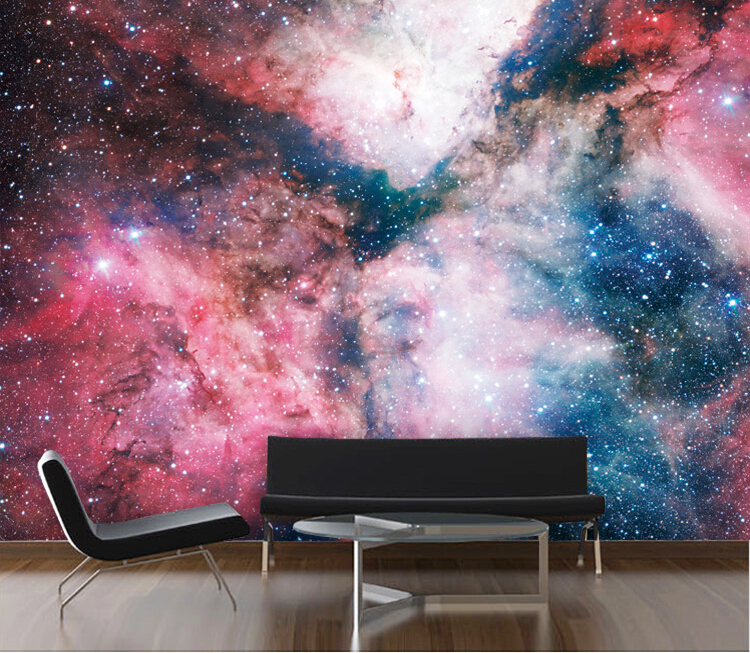 3d Ceiling Wall Mural Outer Space Starry Sky Papel Mural