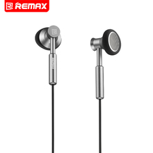 Big sale Remax 3.5mm Metal Earphone Headphone Headset Stereo Bass In-Ear Headphones Earphones Fone De Ouvido Micphone Mobile Phone MP3 PC