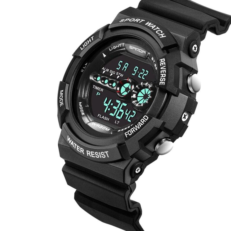 Мужские Цифровые часы SANDA, водонепроницаемые армейские часы с календарем, LED, спортивные|watch assembly|watch luxurywatch watches | АлиЭкспресс