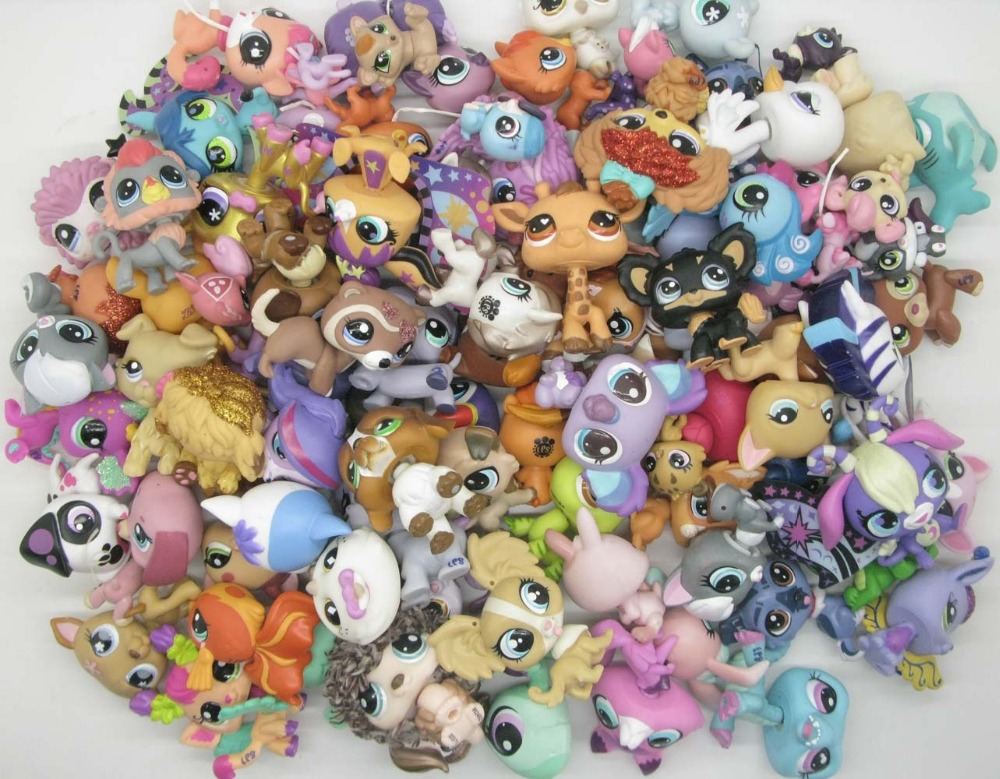 Image 2 - 20Pcs/lot random Animal Littlest Toy pet shop toy Cute lol pets patrulla canina Action Figures Kids toysAction & Toy Figures   -