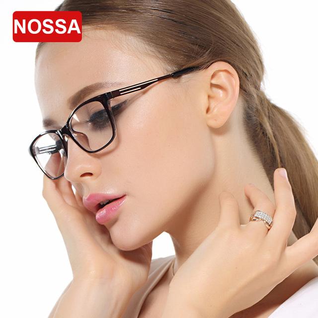 NOSSA Marca de Moda Homens & das Mulheres Óculos de Armação Quadro Feminino Ultra Light TR90 Armação Dos Óculos de Prescrição Estudantes Miopia Frame Ótico