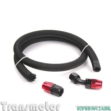 car-styling AN12 Nylon Oil Fuel Line Hose 1M/3FT & straight Swivel Hose End & 45 Degree Fiting Swivel Hose End