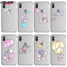 USLION Patterned Mobile Phone Cover For Iphone 5 5S SE 6 6S PLUS 7 8 7Plus X XR XS MAX Lovely Animal Soft Back Case For Iphone стоимость