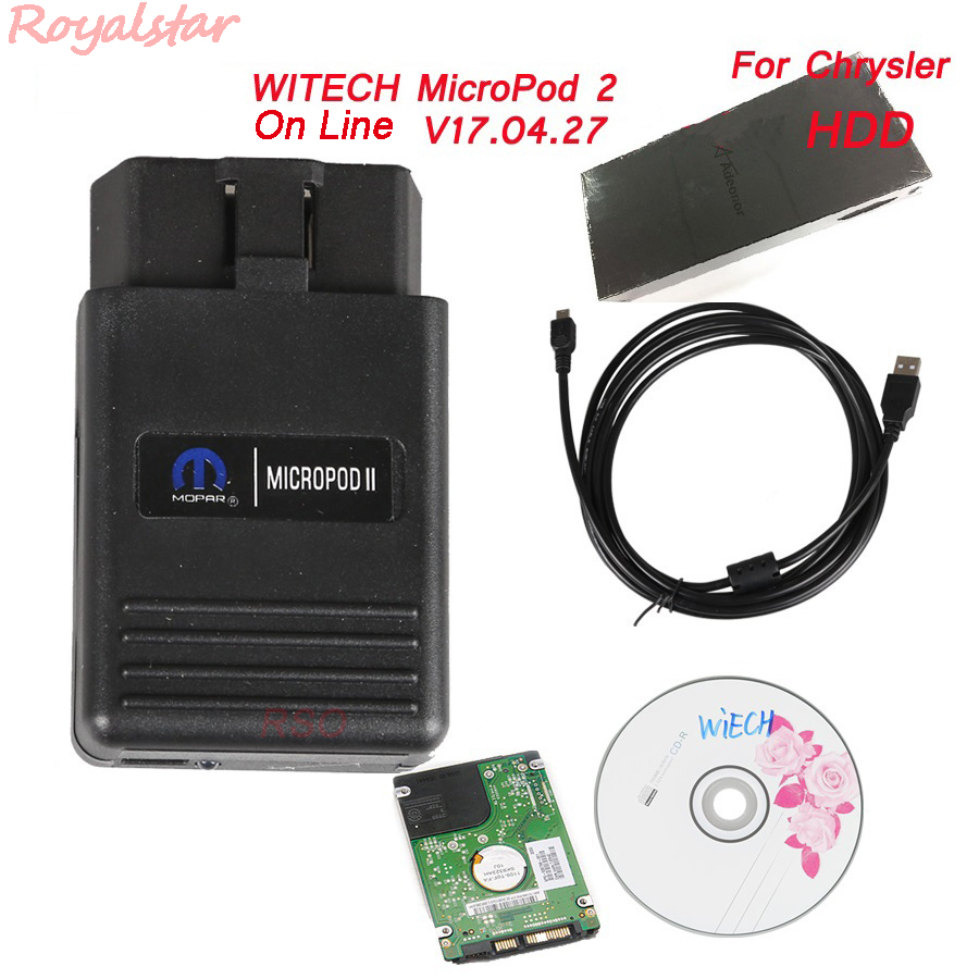 New on line WITECH MicroPod 2 V17.04.27 For Chrysler professional Diagnostic Micro Pod2 with HDD Software Multi-Language haas going on–line with your micro paper only