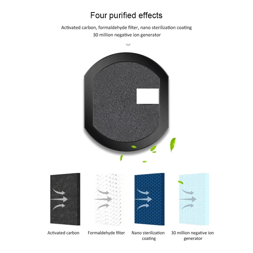 Más energía Solar coche purificador de aire de uso del coche ionizador de aire anión fresco PM2.5 OVNI forma No hay ruido de alta velocidad purificar - 5