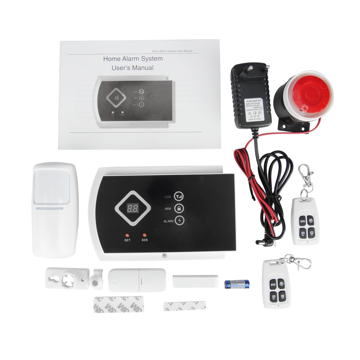 NEW Wireless GSM Alarm System For Home security System SMS GSM Alarm System Home auto Systems with PIR/Door Alarm Sensor 16 ports 3g sms modem bulk sms sending 3g modem pool sim5360 new module bulk sms sending device