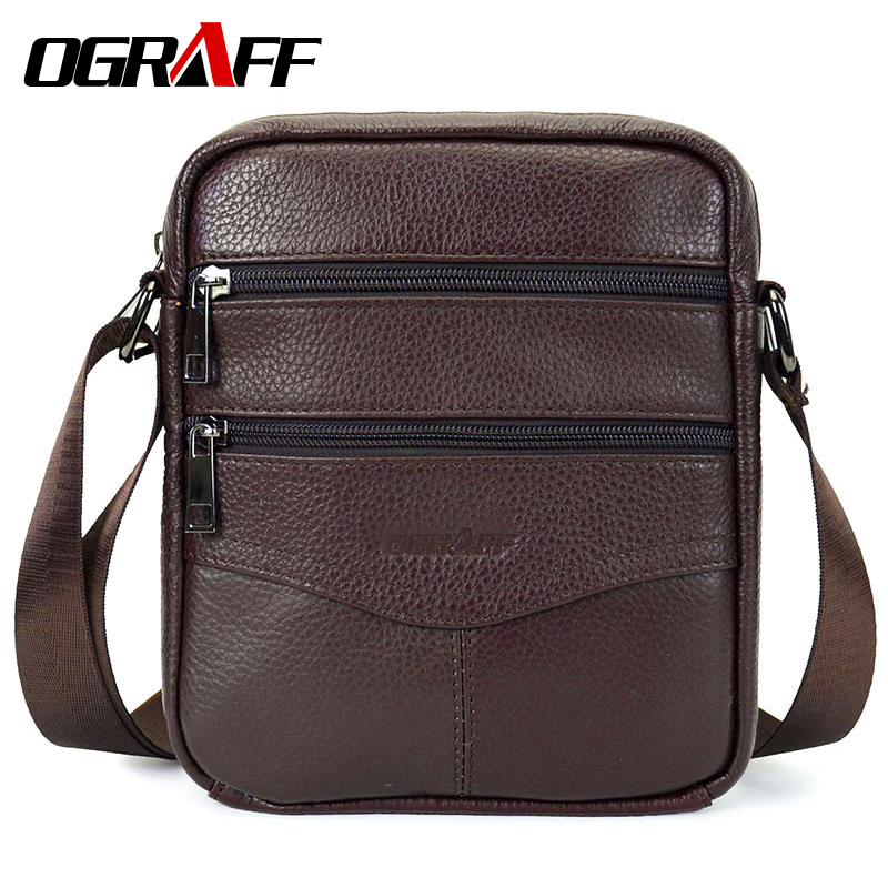 OGRAFF Men Mags Genuine Leather Shoulder Bags Handbags Briefcase Tablets Crossbody Messenger Bag Men Leather Men Travel Bags ograff men shoulder bag men genuine leather handbag design briefcase crossbody messenger bags men leather laptop tote travel bag