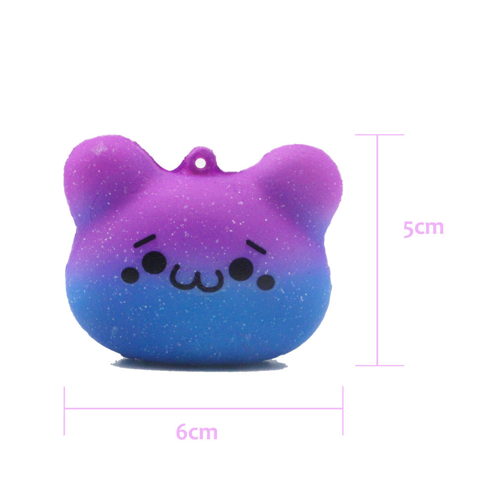 HIINST Squishy Kawaii Cute Bear Emoji Slow Rising Squeeze Toy Collection Cure Gift APR13 P30 drop shipping