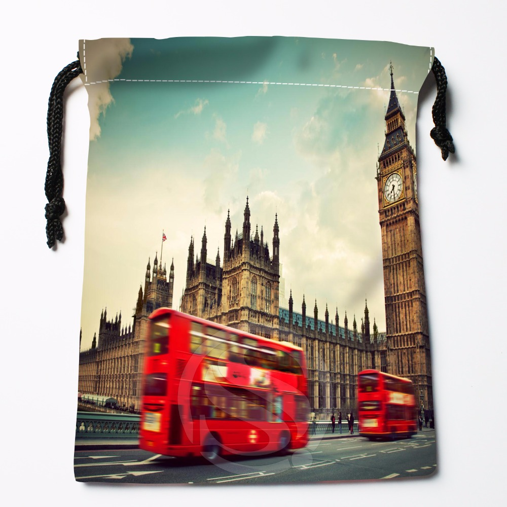 Fl-Q99 New London England Telephone #3 Custom Printed  Receive Bag  Bag Compression Type Drawstring Bags Size 18X22cm 711-#Fl99