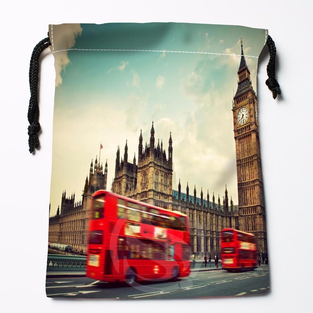Fl-Q99 New London England Telephone #3 Custom Printed  Receive Bag  Bag Compression Type Drawstring Bags Size 18X22cm 711-#Fl99