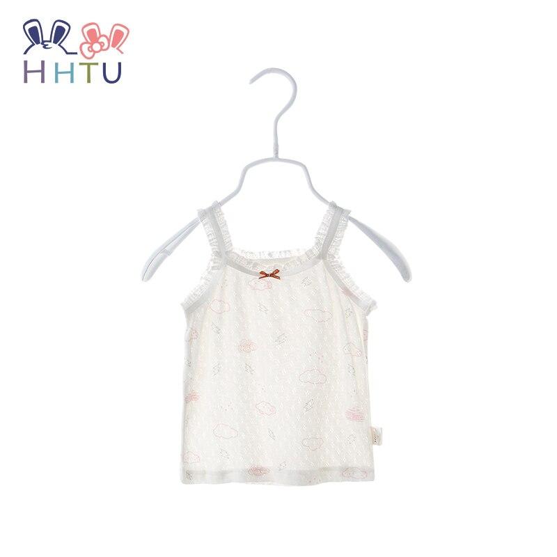 HHTU Baby Girls Vest Cotton Summer Cartoon Camisole Children Tops Undershirts Camisoles Clothing