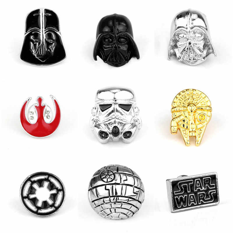 Pin Pin Broche de Stormtrooper Star Wars Darth Vader de Star Wars Millennium Falcon Aliança Rebelde Broche emblema distintivo de lapela dos homens