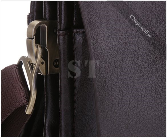 eaabe33174dc Trench Men Leather PU Briefcase Male Dark Brown Solid Business Bags ...