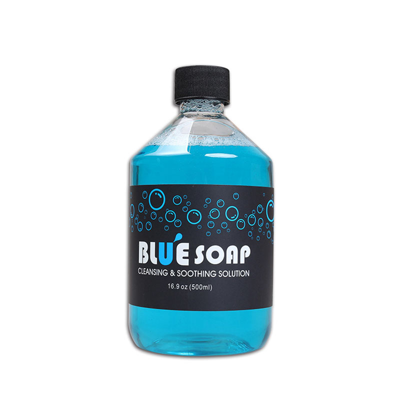 Cosco Tincture Tattoo Blue Soap 16 oz Bottle Clean Stencil Tattoo Soap цена