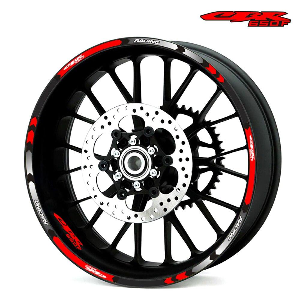 Hot Sell 7 Style Motorcycle Wheel Sticker Rim Stripe 17inch Stickers For Honda CB650F