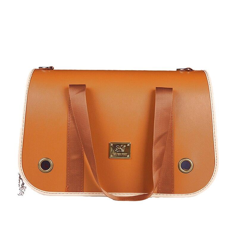 Sac de chien de luxe de mode en plein air sac de transporteur de chien en cuir concepteurs sac de chien Portable pour petits animaux de compagnie sac à bandoulière pliable|leather dog carrier bag|designer dog carrier bags|dog carrier bag - title=