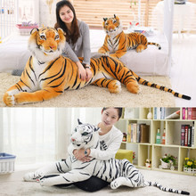Soft Stuffed Animals Tiger Plush Toys Pillow Cartoon Animal Big Pattern Kawaii Doll Cotton Girl Toys For Children(China)