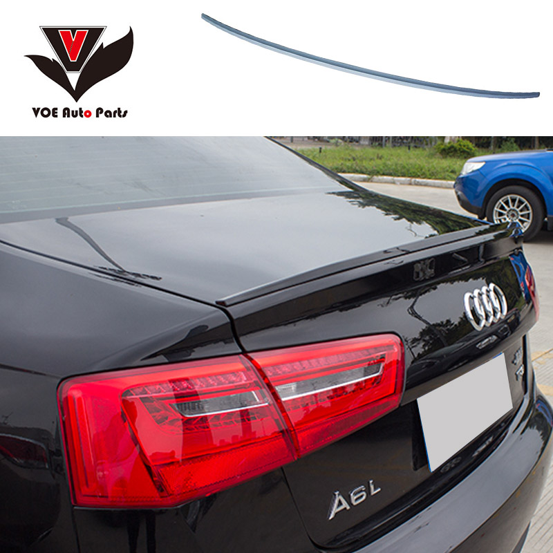 A6 C7 Modified S6 Style ABS Plastic Unpainted Primer Rear Trunk Lip Spoiler for Audi A6 C7 2012 2013 2014 2015 все цены